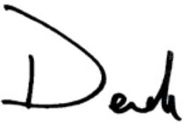 Derek Gordon's signature