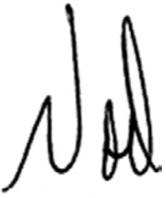 Noel Wallace's signature
