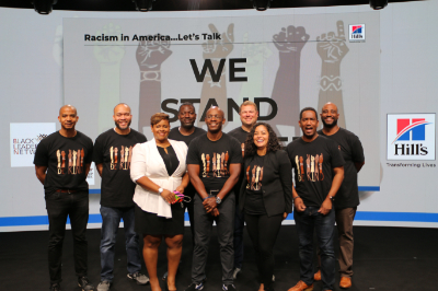 Group of people from Hill's Black Action Committee