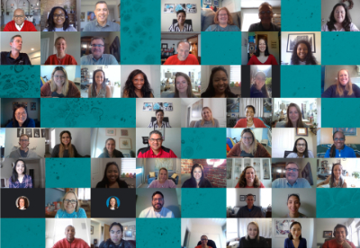 North America Diversity Leadership Council members in Zoom conference call (screenshot, collage)
